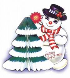 снеговик и ёлка