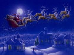 Дед Мороз на-санях