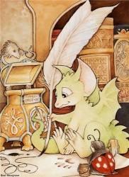 Дракончик пишет сказки