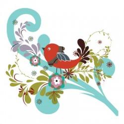 маленькая птичка на дереве