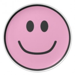 smiling pink plate